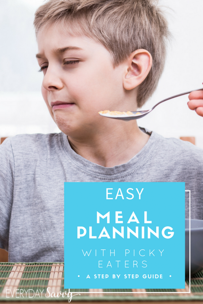 These meal planning tips & food for picky eaters will make mealtime less stressful. Great ideas for meal planning with a picky eater.