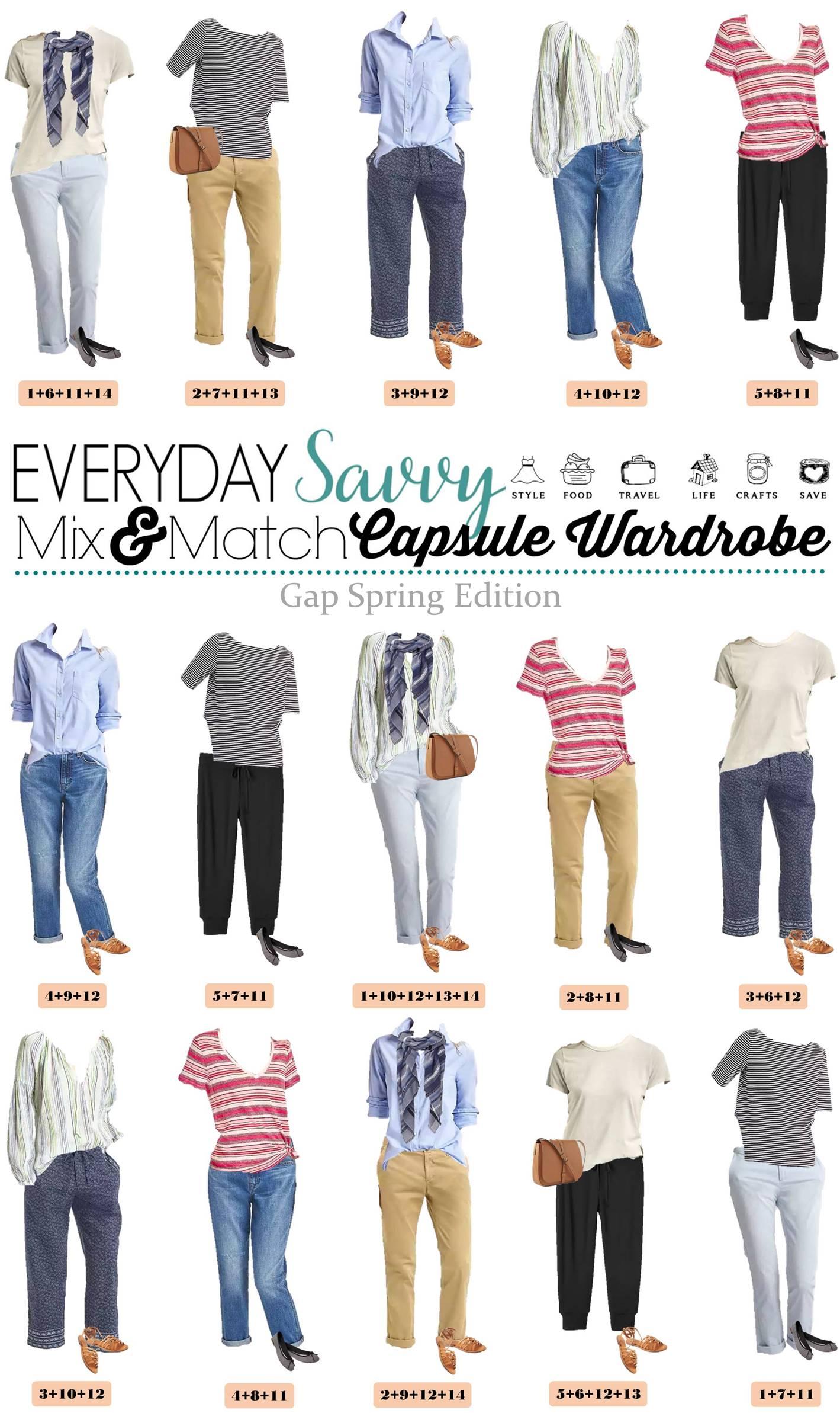 Gap Spring Capsule Wardrobe Great For Everyday Amp Travel