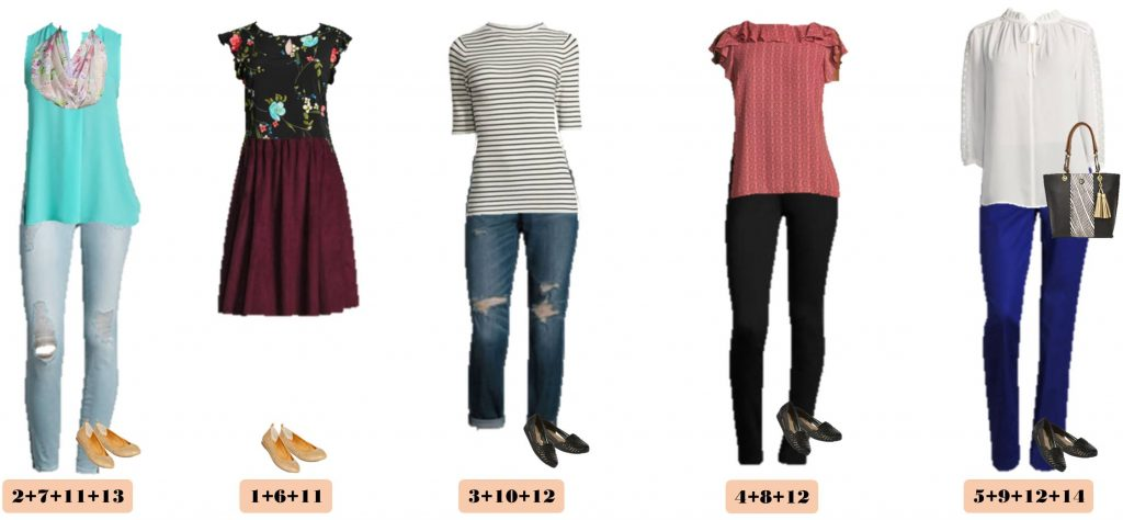 New JCPenny spring capsule wardrobe. This capsule is fun and includes floral, stripes and pops of color. Great outfits for every day and date night.