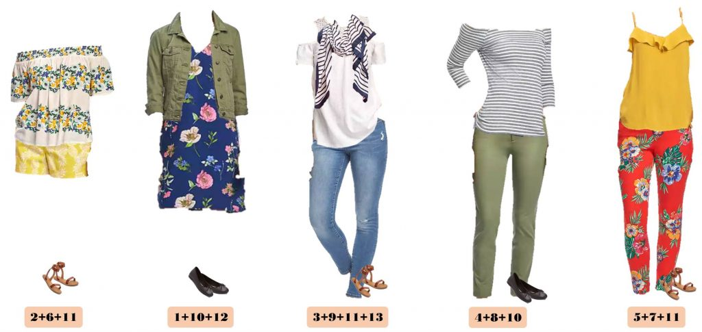 This new Spring Old Navy Capsule Wardrobe just might be my favorite! I am a sucker for the olive green, mustard and navy with the floral and stripes.