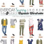 Spring Old Navy Capsule Wardrobe – Mix & Match Outfits