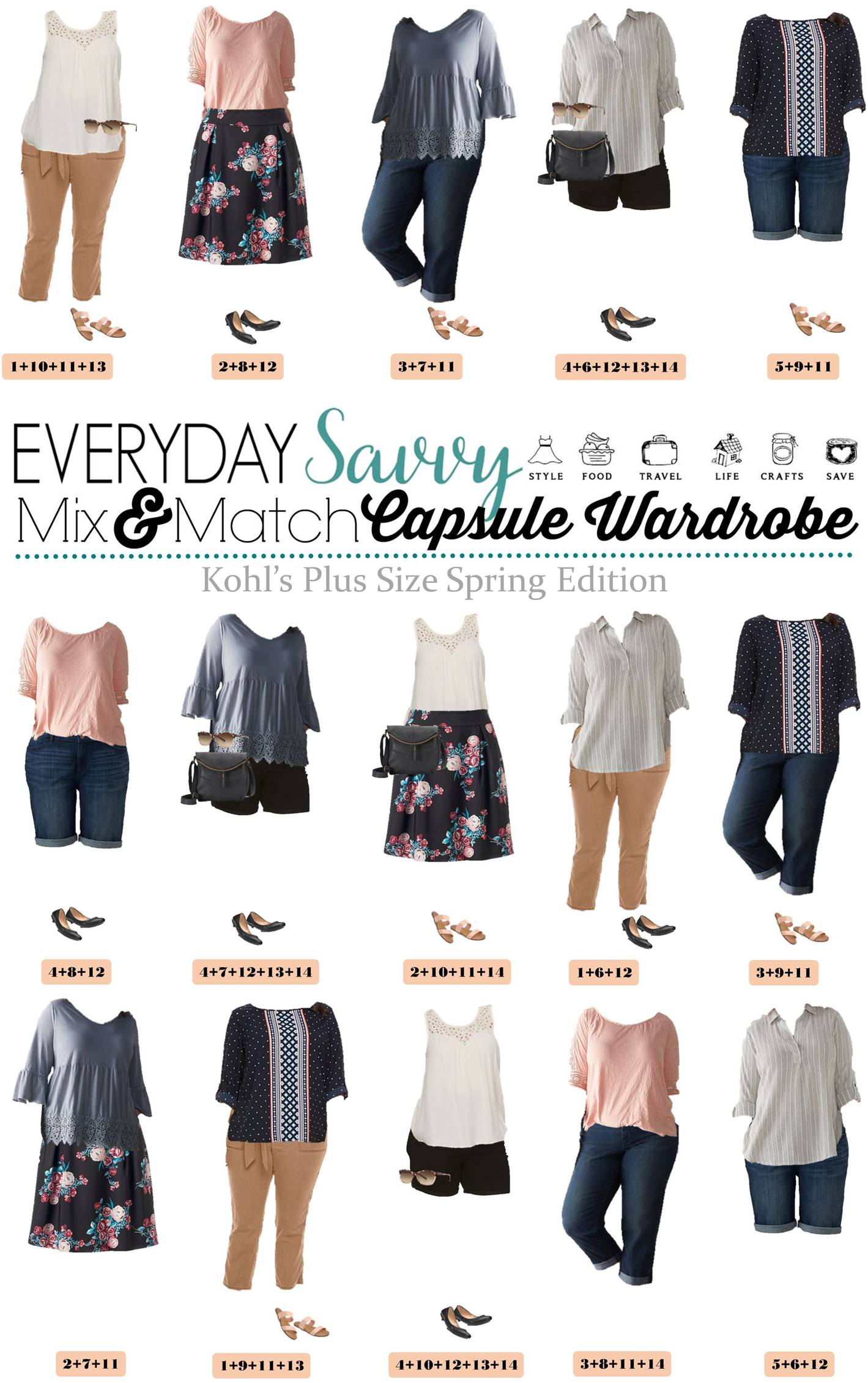 Mix & Match Plus Size Spring Outfit Ideas From Kohls