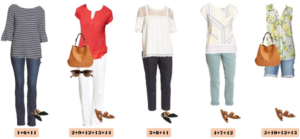 Check out this Nordstrom spring capsule wardrobe with on-trend casual outfits at great price points.Bell sleeves, fringe and baby boot cut jeans.