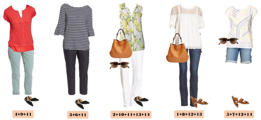 Check out this Nordstrom spring capsule wardrobe with on-trend casual outfits at great price points. Bell sleeves, fringe and baby boot cut jeans.