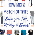 How Mix & Match Cute Simple Outfits Save Time, Money & Stress
