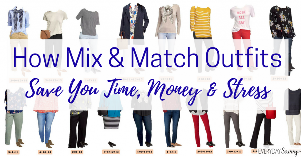 Learn how to make mix & match cute simple outfits that will save you time money and stress. Includes a guide on how to make your own mini capsule wardrobe.