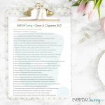 Clean & Organize April Task List