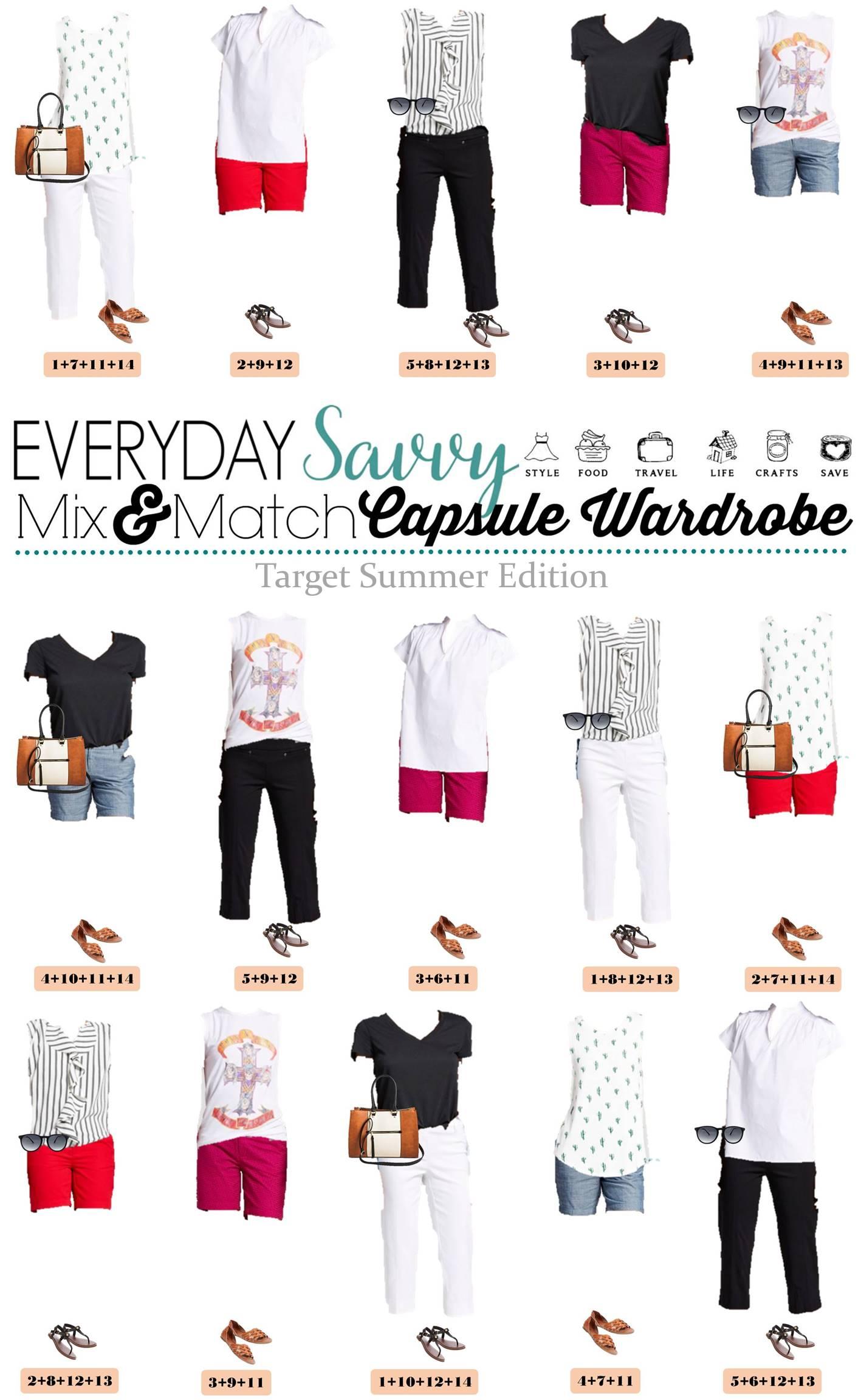Target Summer Capsule Wardrobe Mix Amp Match