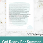 Get Ready For Summer – Clean & Organize Tasks for May