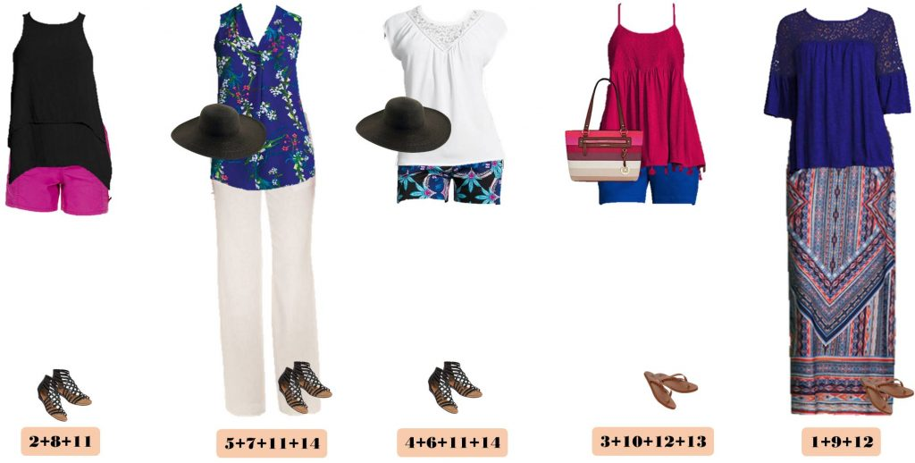These mix and match JCPenney cute summer outfits will make looking great a breeze this summer. These work great for travel as well.