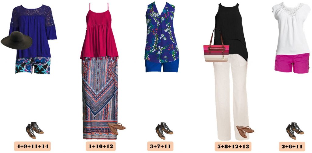 Jcpenney Cute Summer Outfits Mini Capsule Mix Match