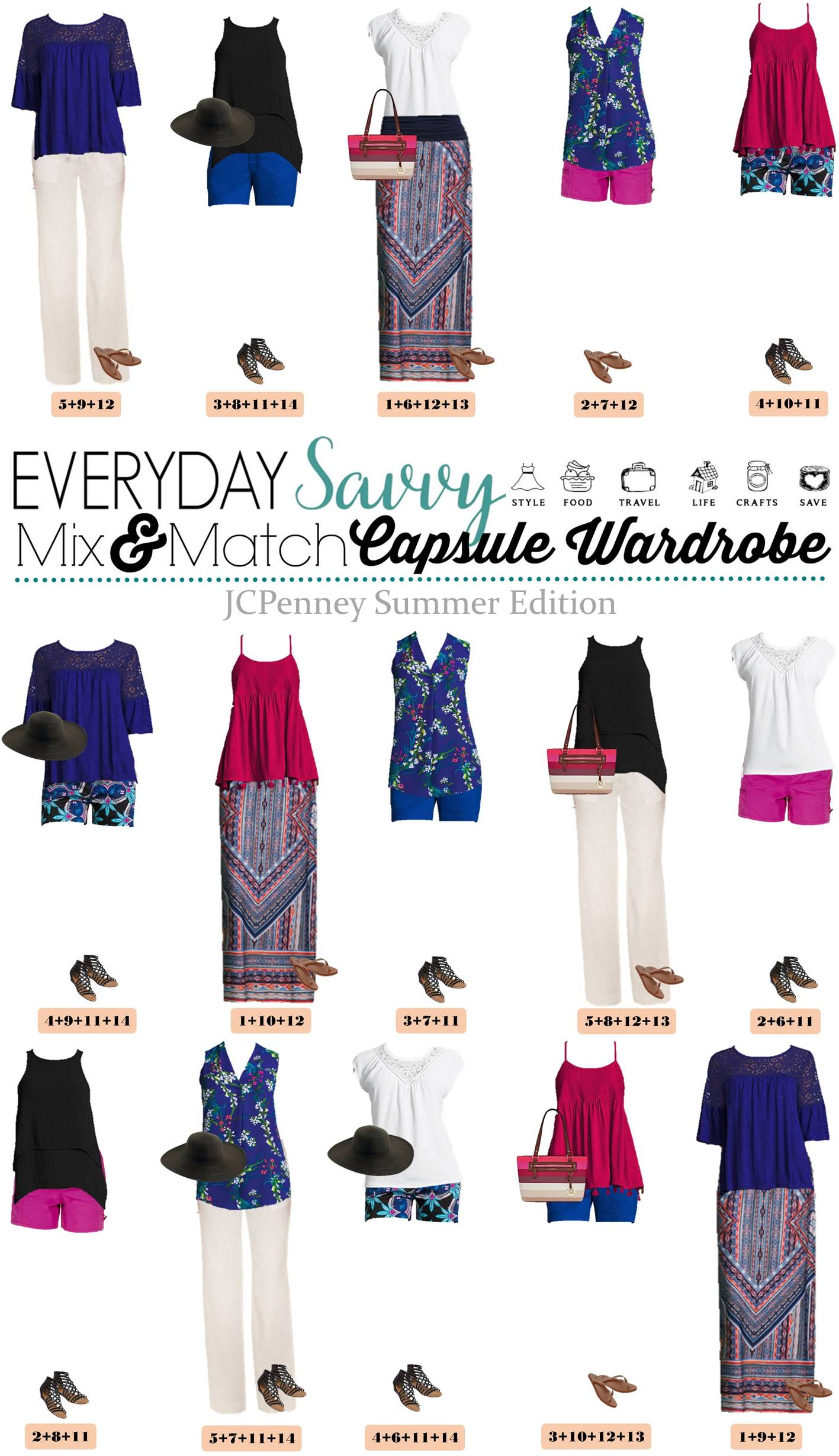Jcpenney Cute Summer Outfits Mini Capsule Mix Amp Match