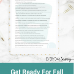 Get Ready for Fall With August Clean & Organize Tasks