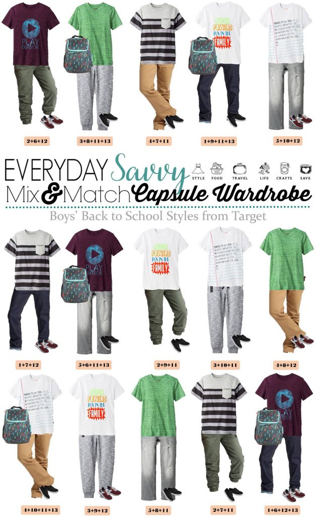 Back School Shopping is easy with these boys mix and match outfits for school. 15 Mix and Match school outfits for boys that are perfect for school.