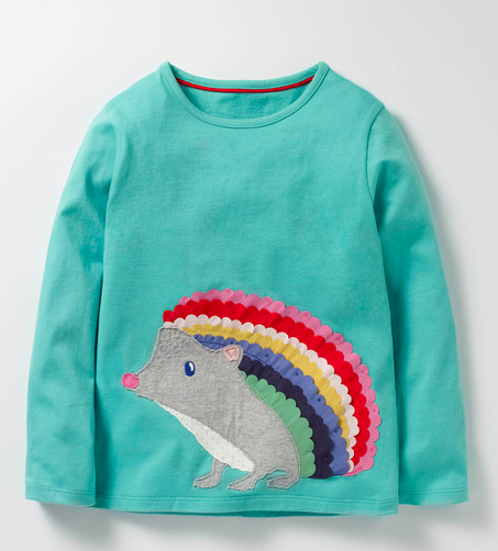 Mini Boden applique tee shirt for girls