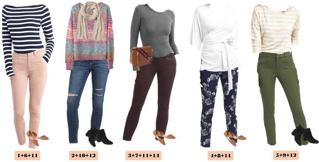 New Gap capsule wardrobe for fall. Includes velvet pants, fun floral and stripes, lots of great basic tops and super cute booties!