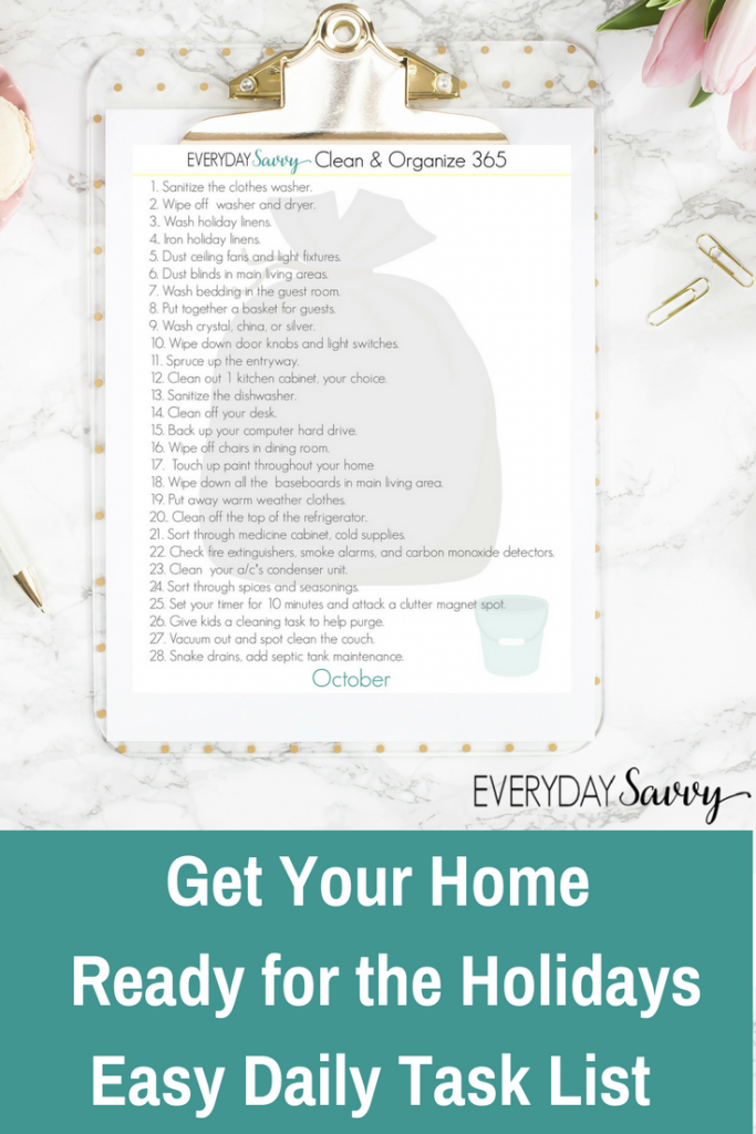 Getting your home ready for the holidays is easy with these simple tasks. Completing these tasks now will make the holiday season less stressful.