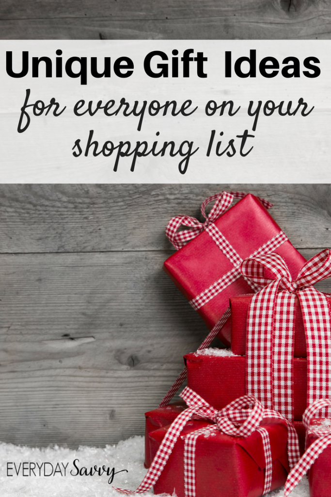 present and gift ideas for everyone on your shopping list makes shopping easy