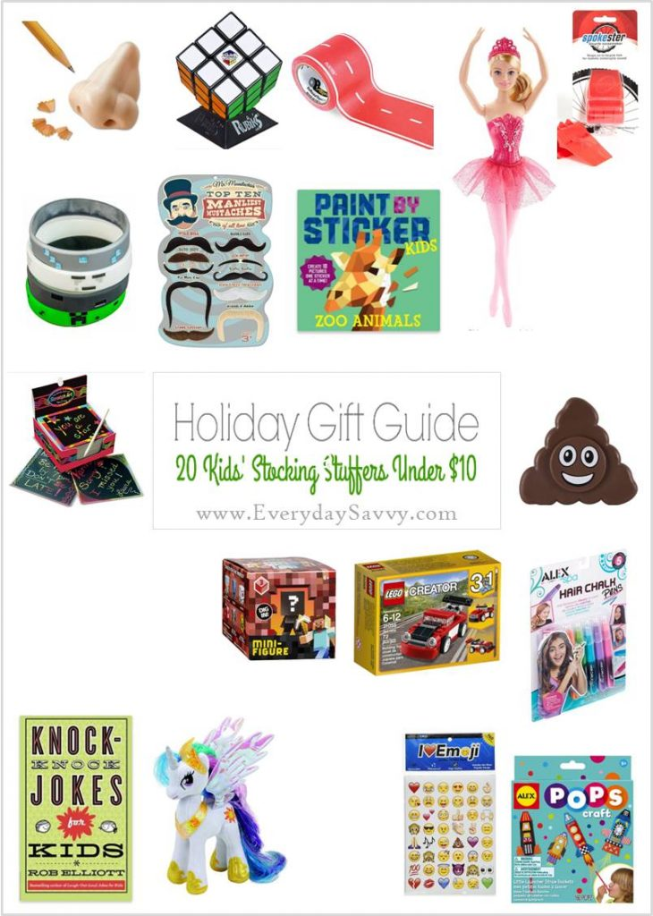These inexpensive stocking stuffer ideas for kids are unique and fun. These gifts are great for girls and boys. Many are great for travel too!