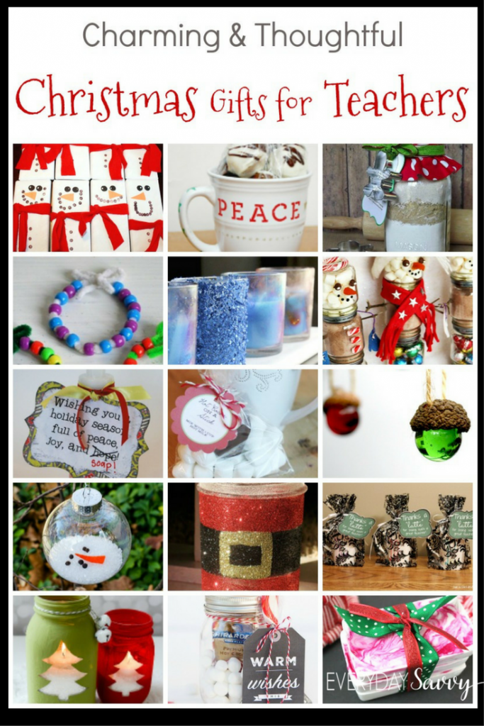 Teacher Christmas Gift Ideas - Easy to Buy or DIY Gifts