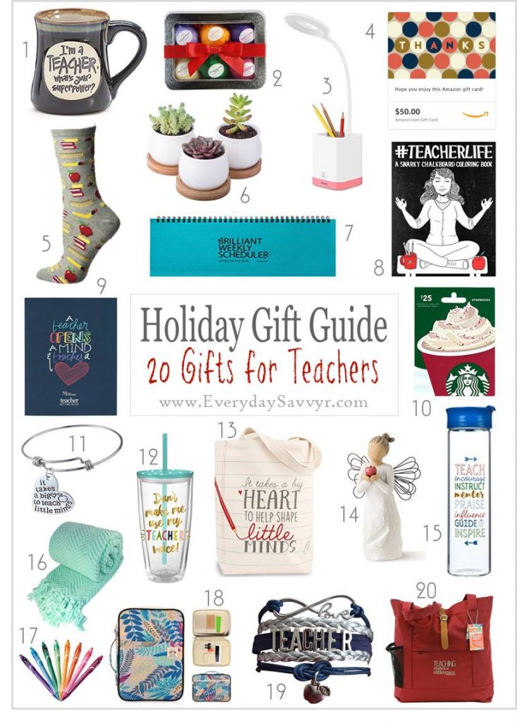 This list of teacher Christmas gift ideas includes both easy to buy last minute gifts or DIY Teacher gifts that the kids can help make.