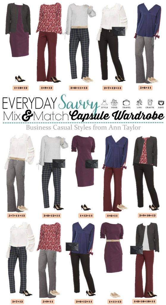 Ann Taylor Business Casual Capsule Wardrobe - Outfits for Work