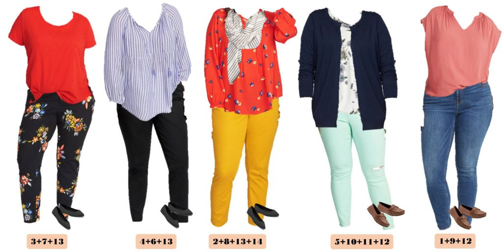 5 plus size spring outfits that mix and and match from Old navy