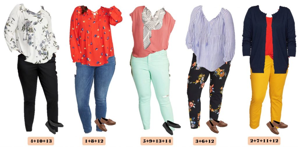 super cute old Navy Plus Size Spring outfits to make a Plus Size Spring Capsule Wardrobe