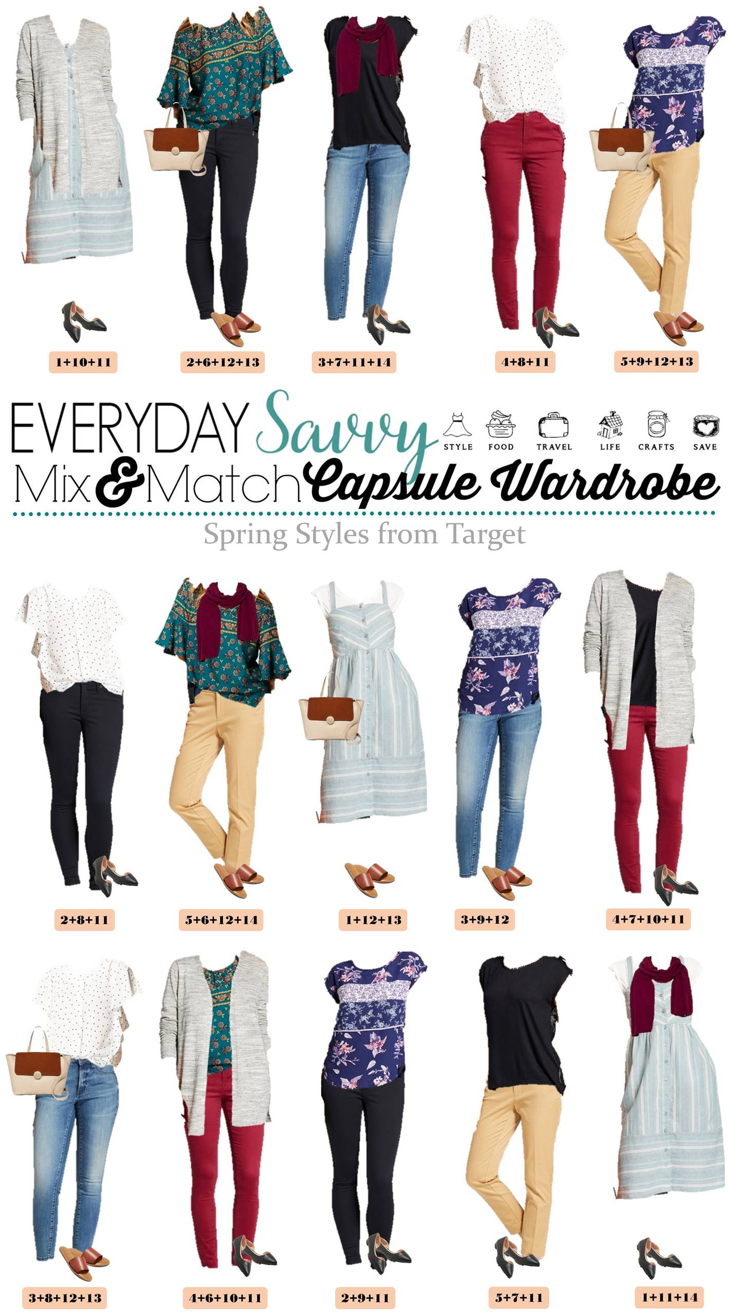 Spring Outfits from Target that mix and match