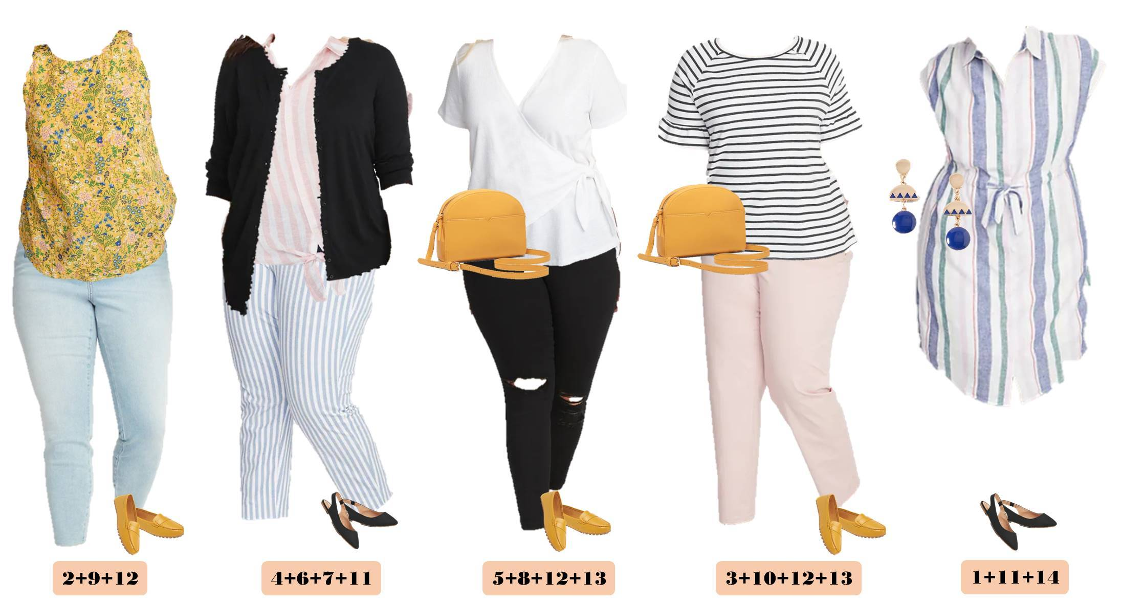 capsule wardrobe with plus size outfits