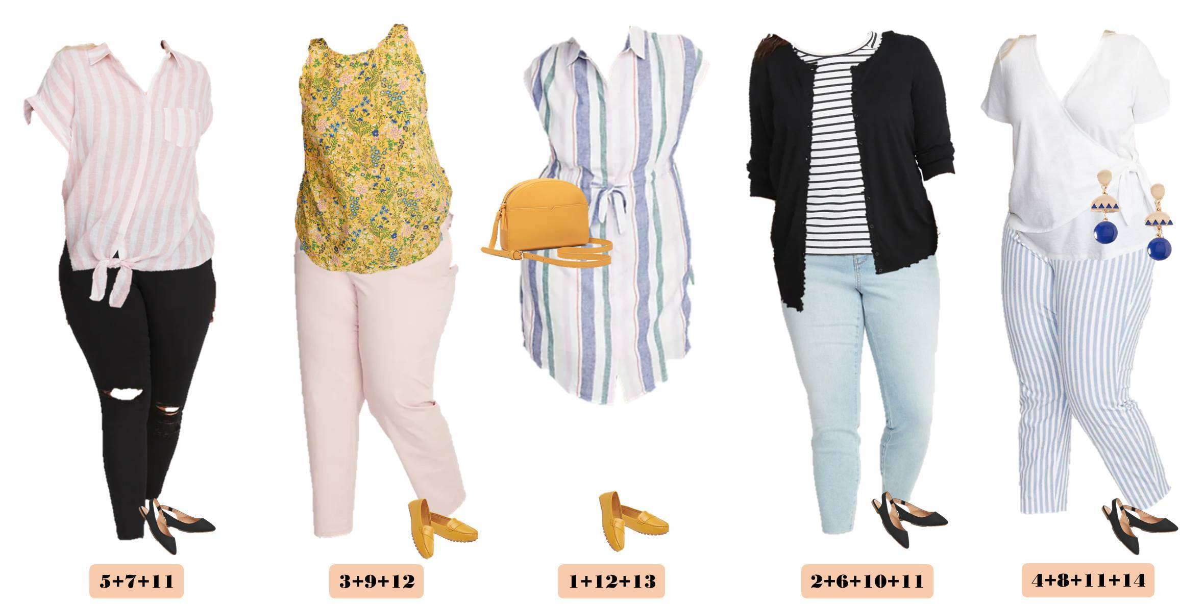 plus size capsule wardrobe outfits