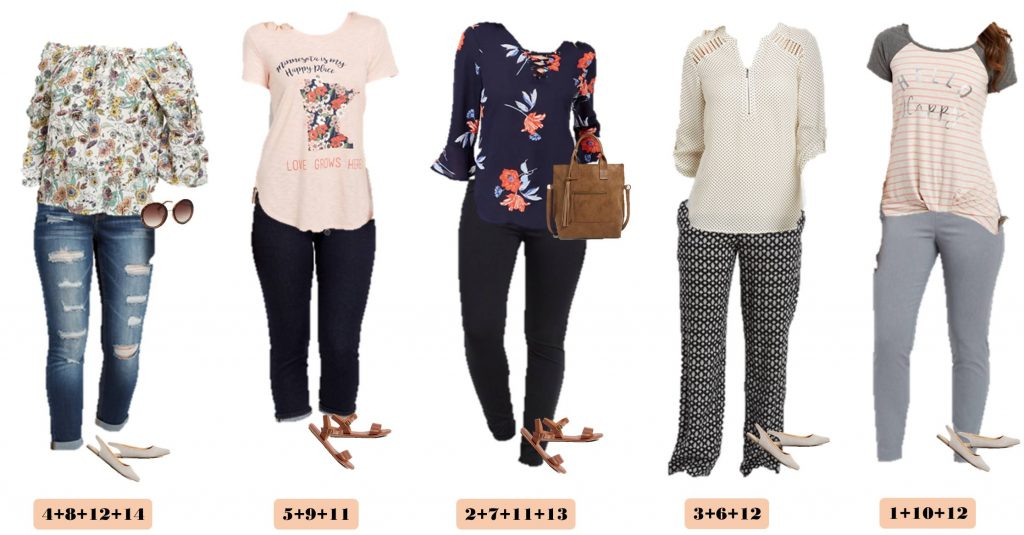 spring floral casual outfits from Maurices