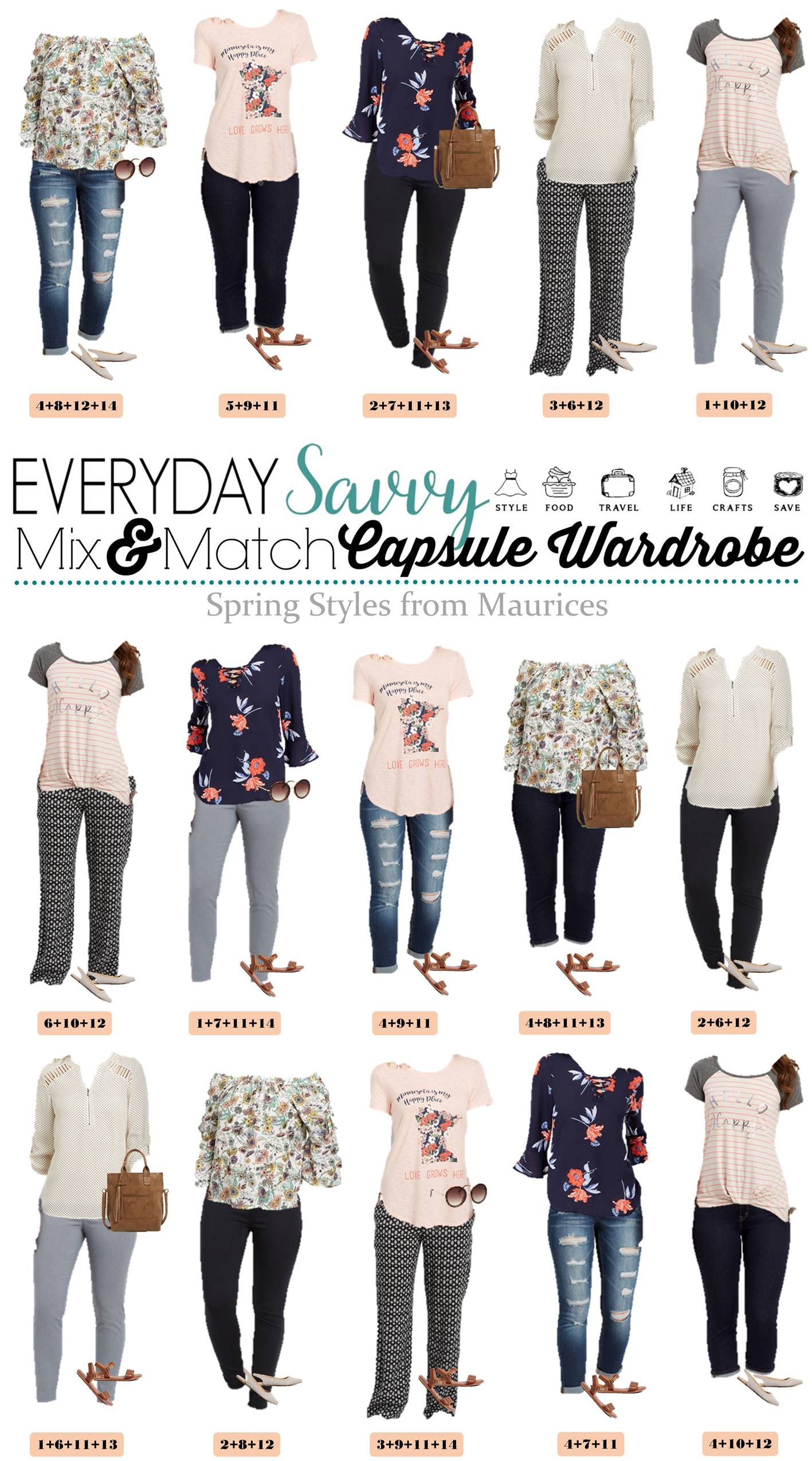 Maurices Clothing Spring Capsule Wardrobe - Cute Casual ...