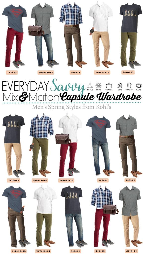 men's mix and match casual outfits