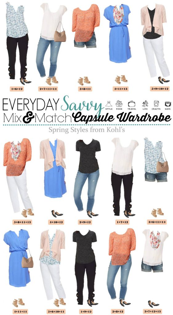 mix and match spring outfits from kohls