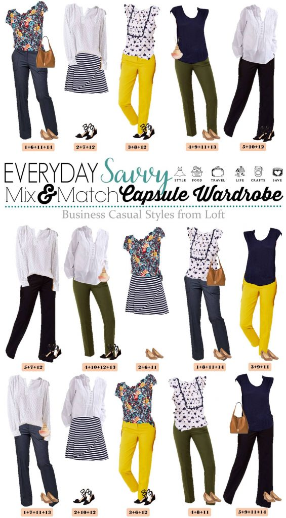 business casual outfits - 15 outfits that mix and match