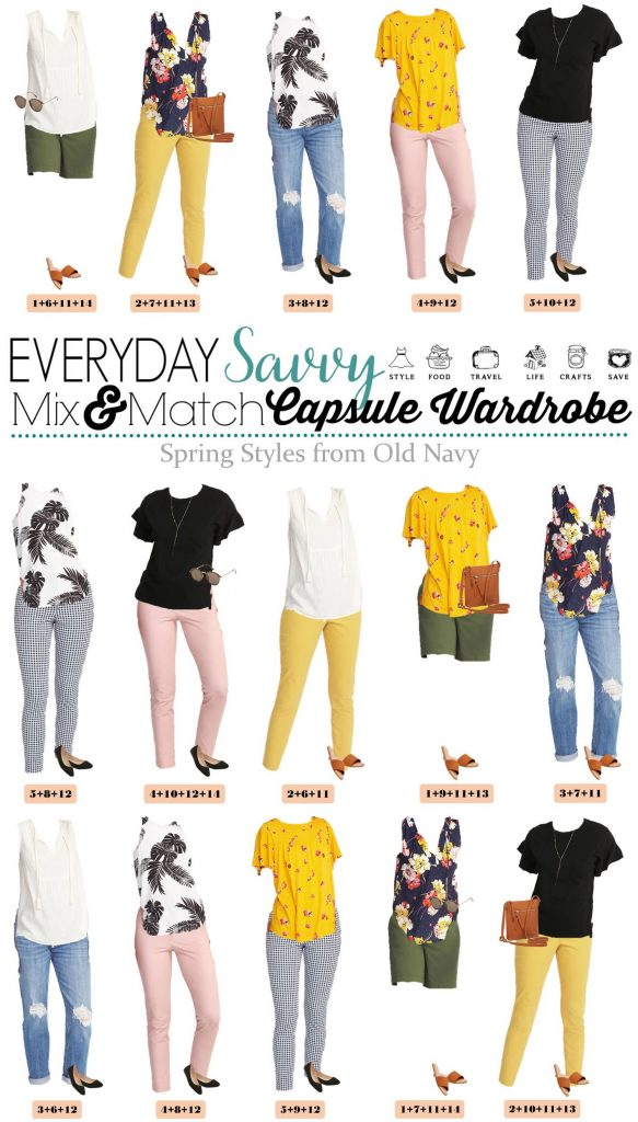 spring outfits from Old Navy that mix and match