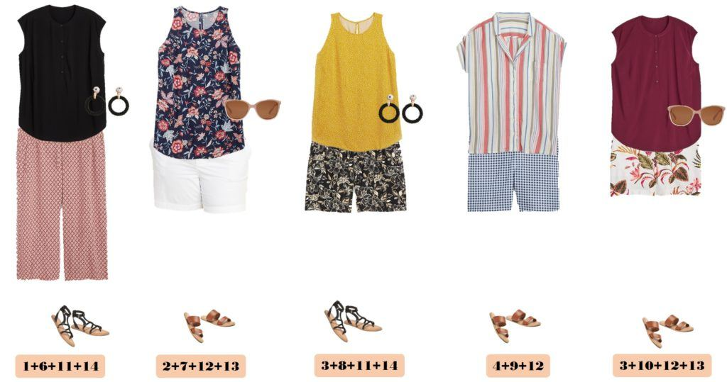 plus size summer tops and plus size shorts and pants - make cute plus size summer outfits