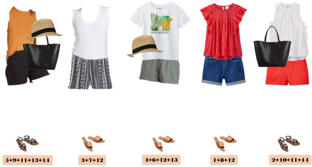 mix and match summer outfits