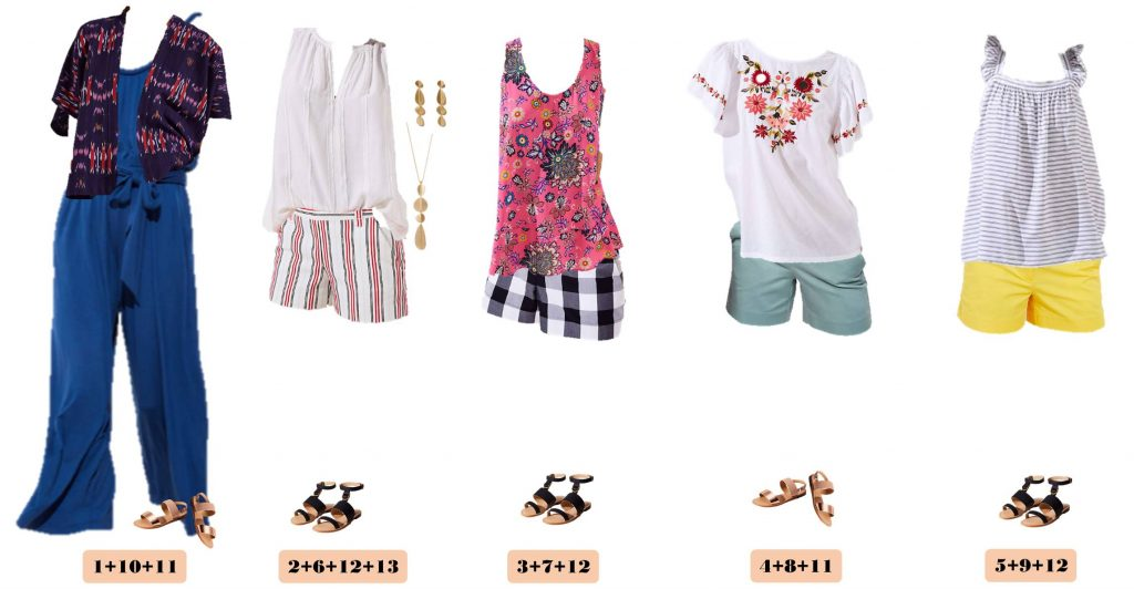 printed short, jumpsuit, summer outfits