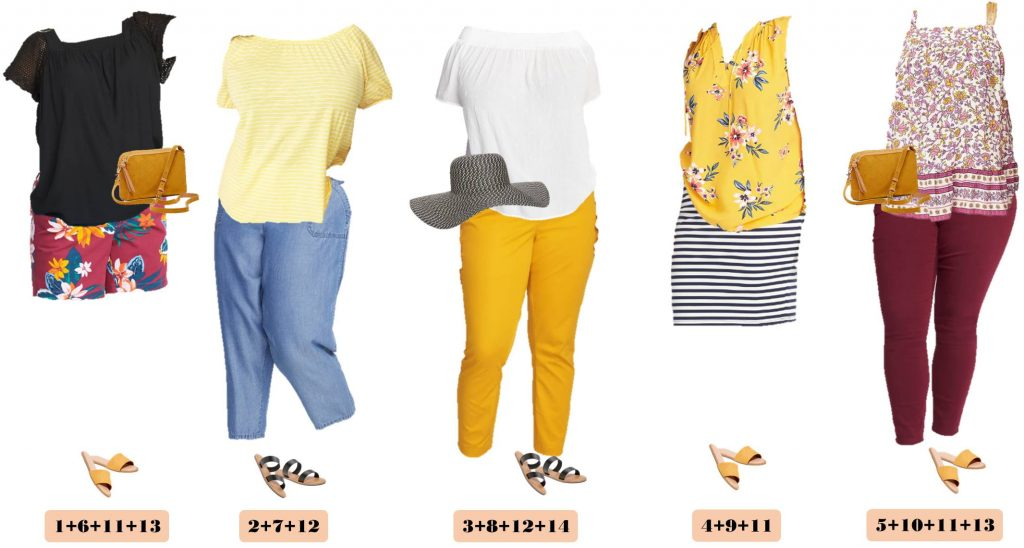 Summer Plus Size Styles - Floral shorts and colored pants