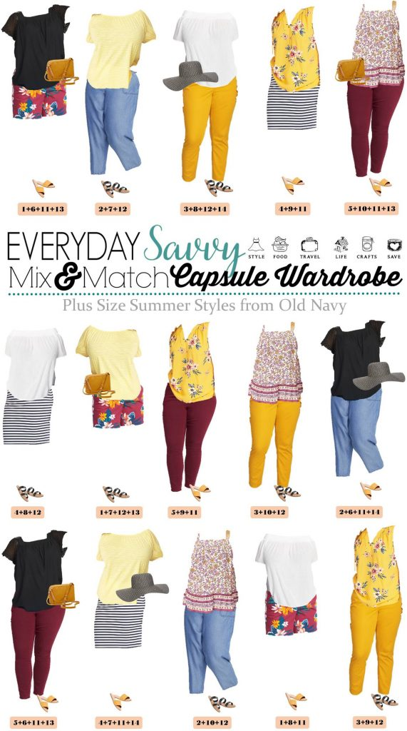 Cute Plus Size Summer Outfits from Old Navy - 15 Mix and Match outfits