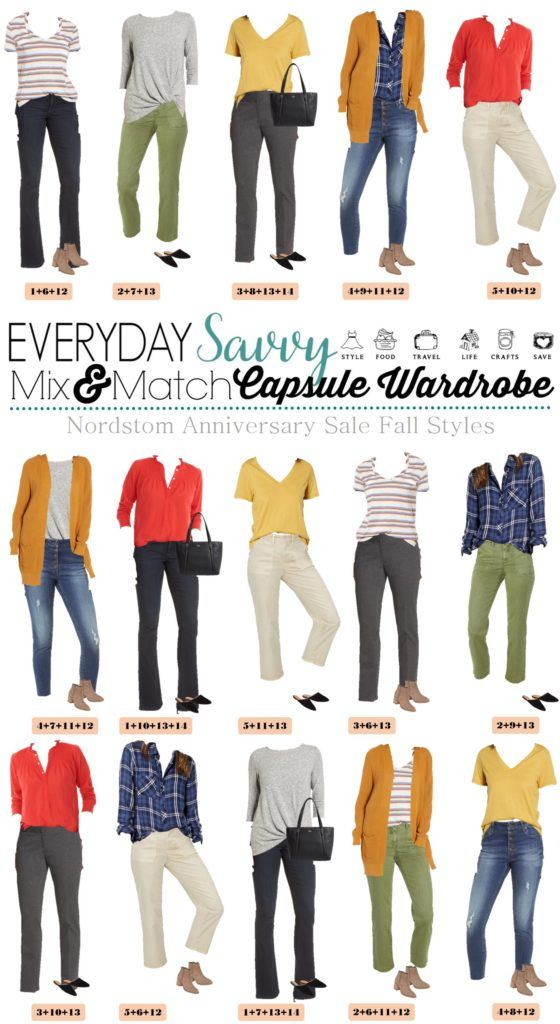 Fall capsule wardrobe - cute fall outfits that mix and match