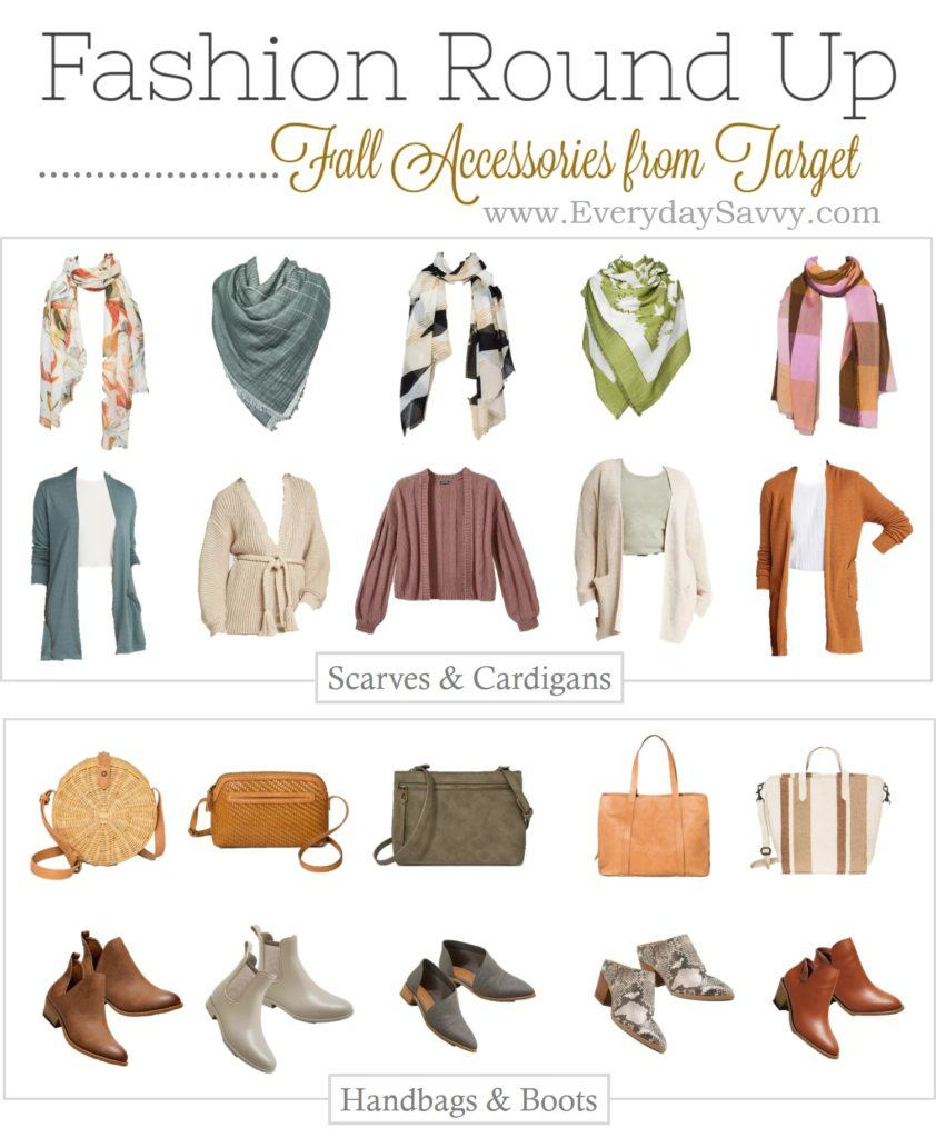 cute fall accessories - fall scarfs, fall cardigans, fall purses and fall booties