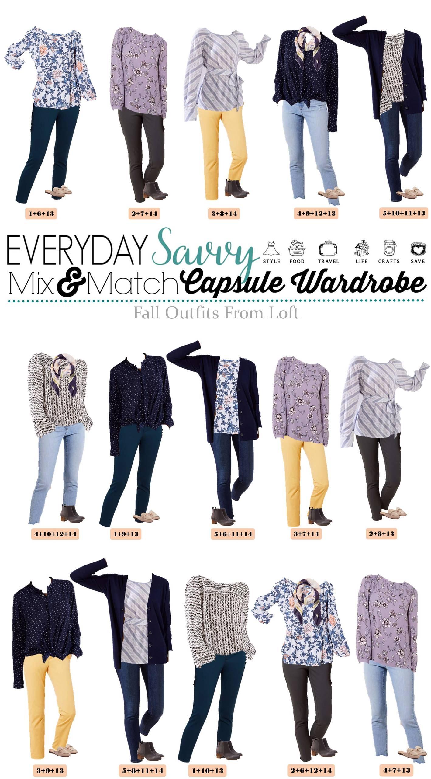 Loft Fall Capsule Wardrobe Fall Outfits For Women