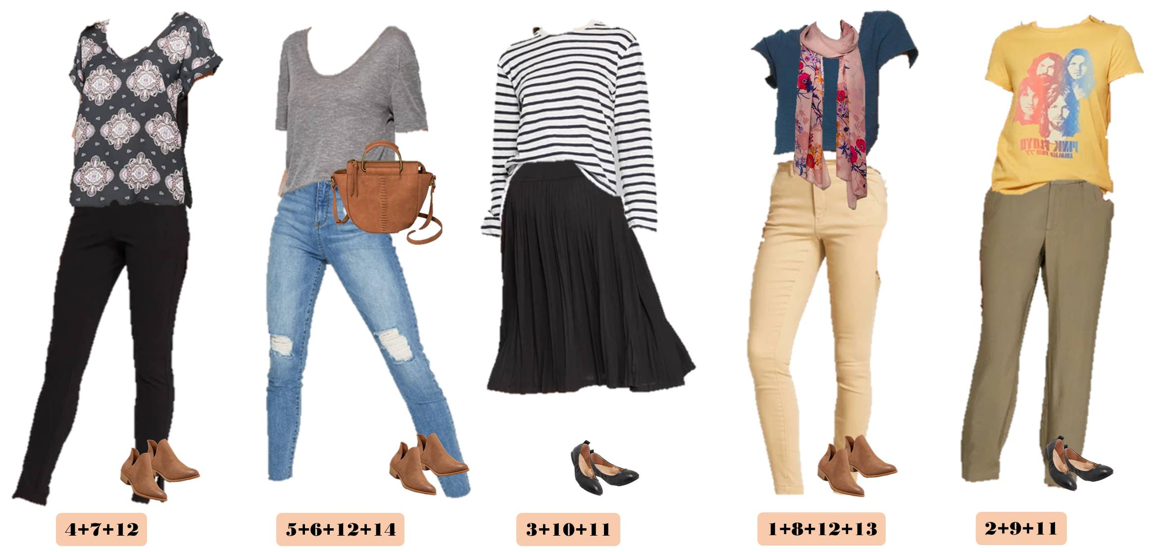 Fall is coming and here is another edition of our Mix and Match Cute Casual Fall Outfits. These pieces are great for casual fall fashion