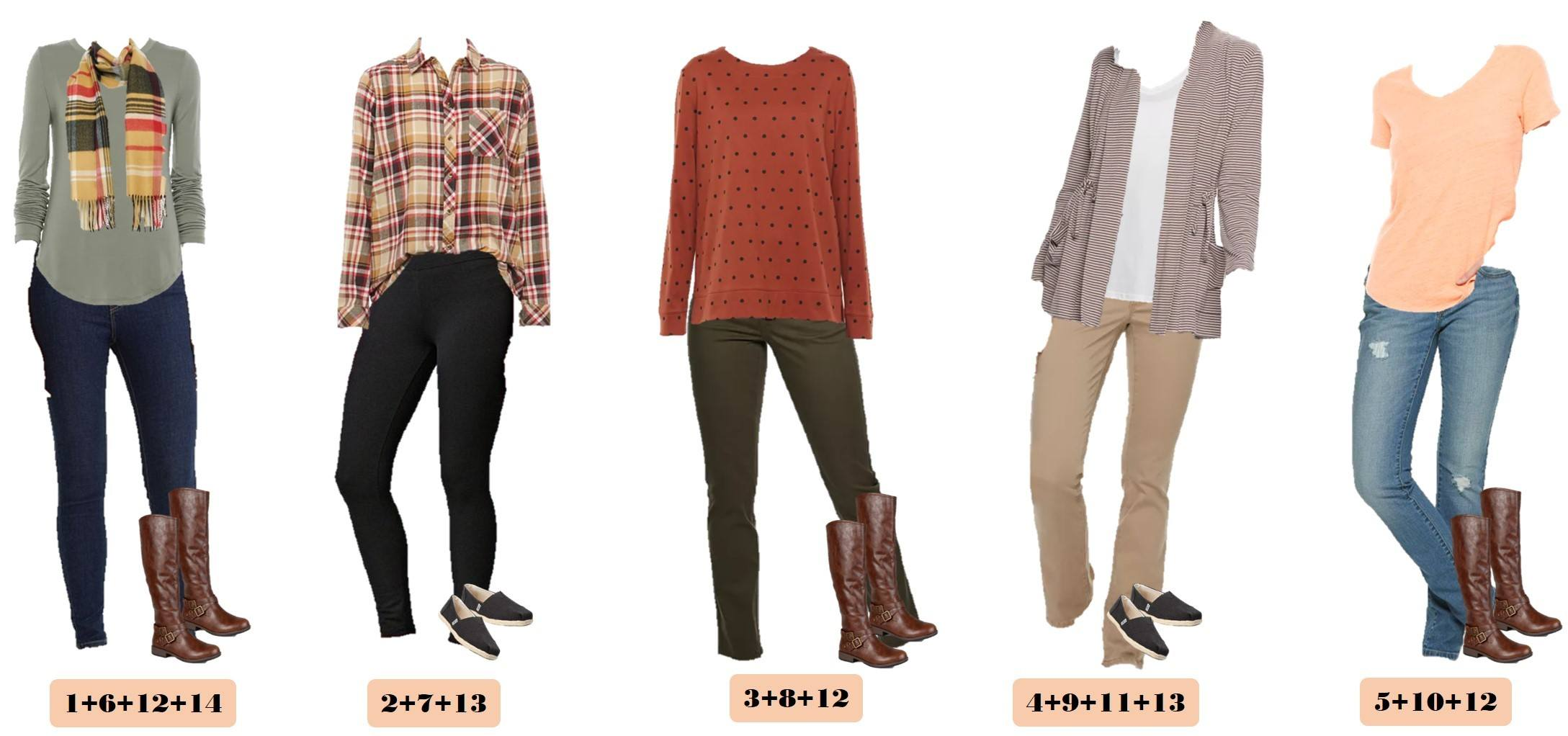 Fall Outfits from Kohls - cozy scary, grety shirt, jeans, boots and more