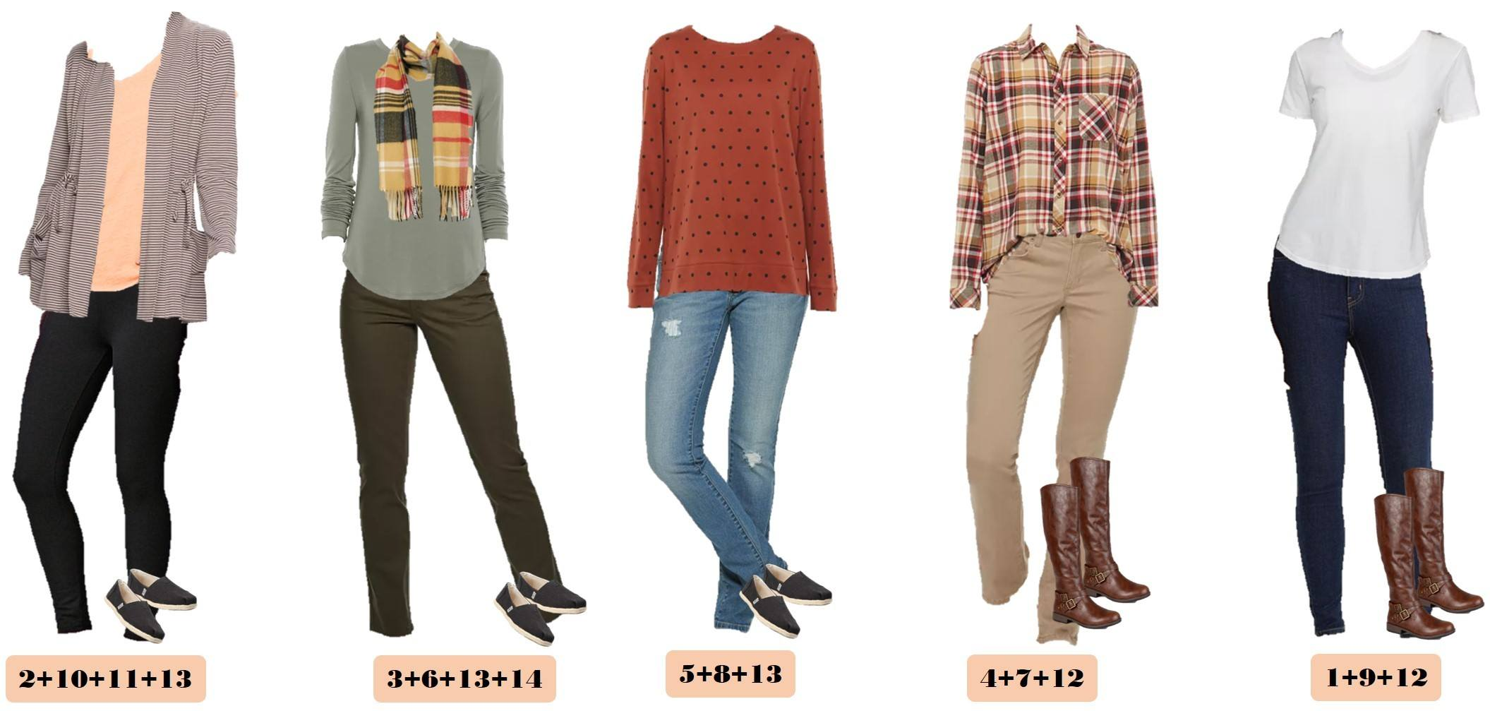 fall styles from Kohls -striped cardigan, skinny jeans, toms, white shirt
