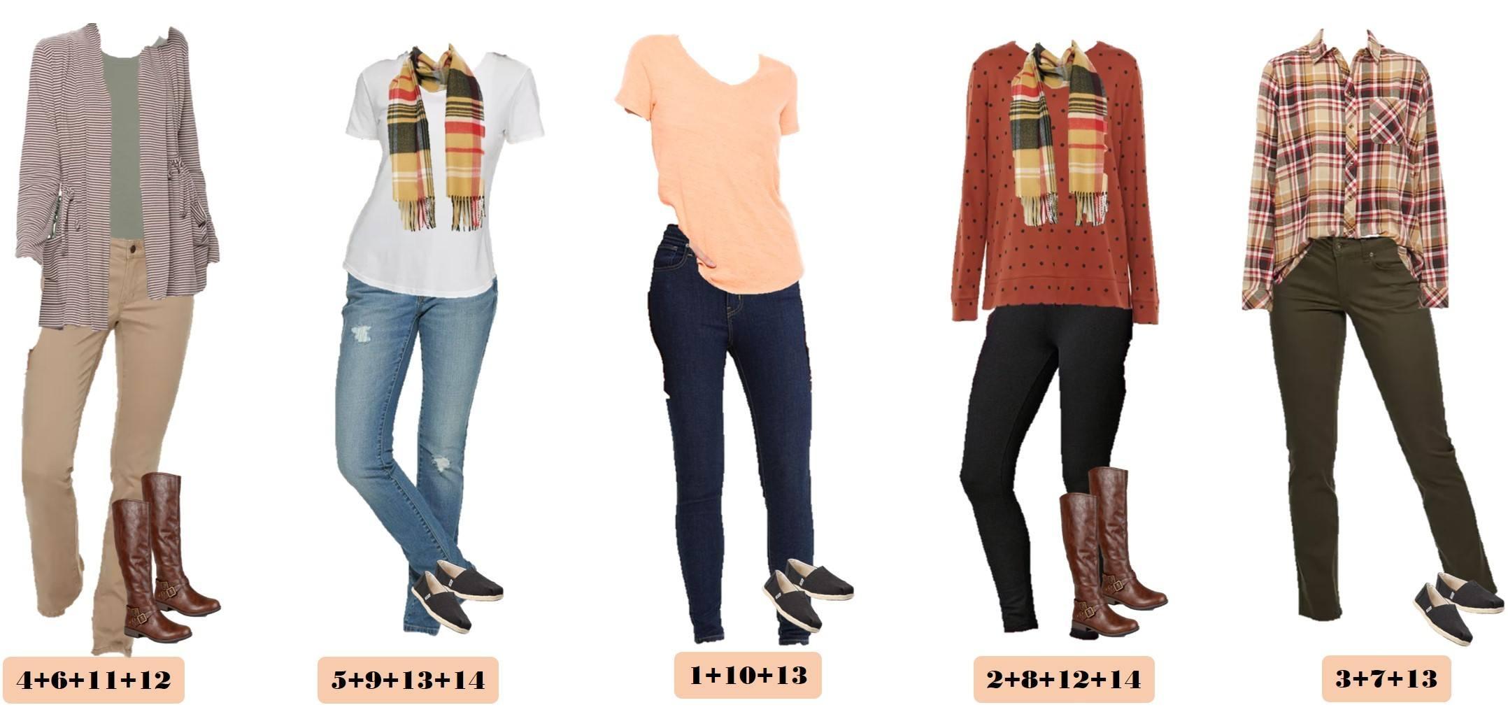 cute fall outfits from Kohls - toms shoes, jeans, khaki pants, plaid shirt, cozy sweatshirt