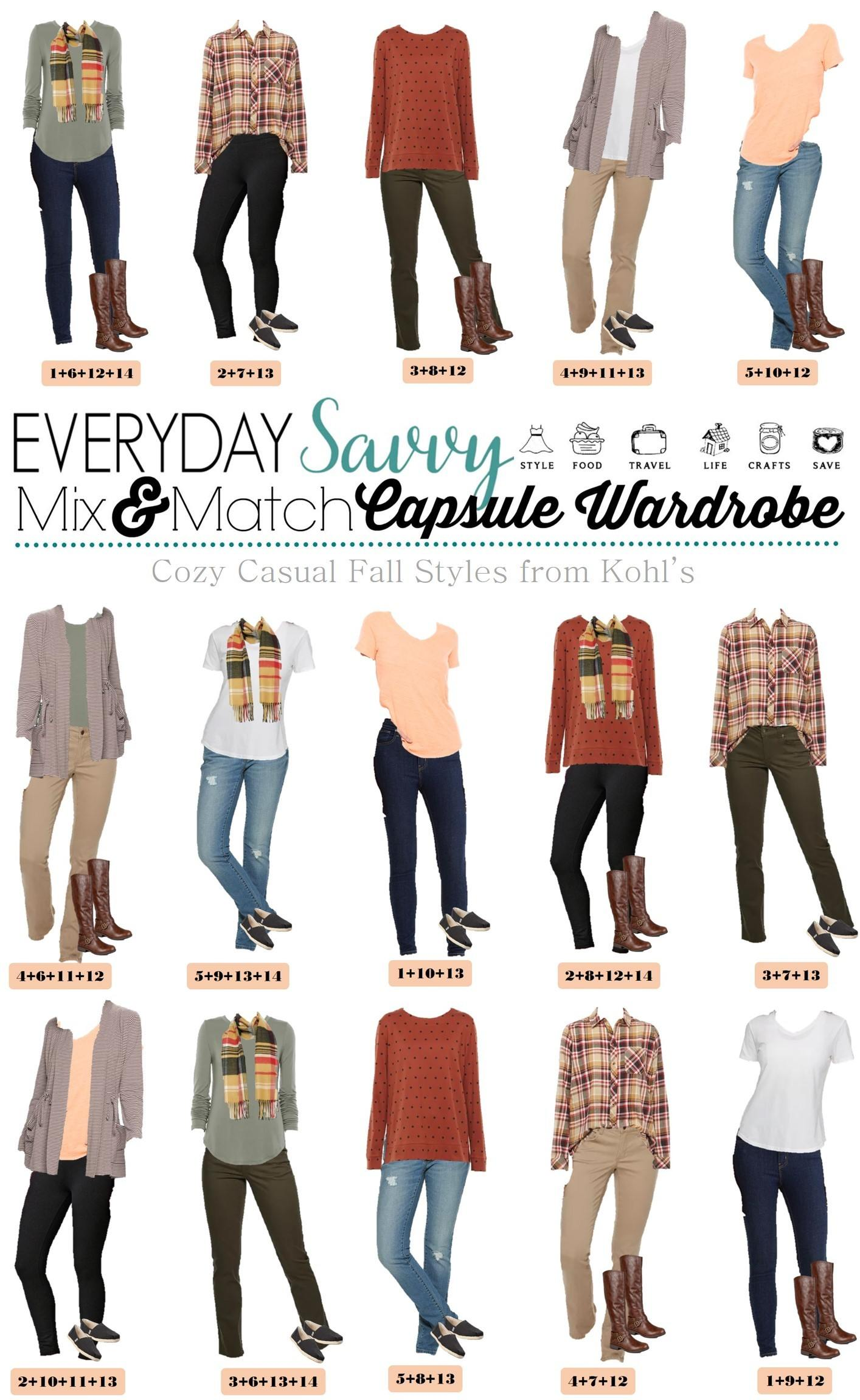 Casual Fall Outfits - Plaid shirt, jeans, sweatshirt etc.